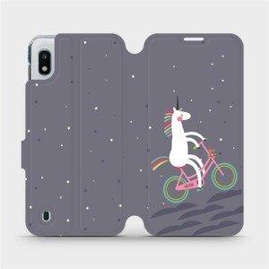 Flipové pouzdro Mobiwear na mobil Samsung Galaxy A10 - V024P Jednorožec na kole