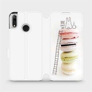 Flipové pouzdro Mobiwear na mobil Huawei Y7 2019 - M090P Makronky - have a nice day