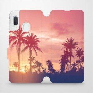 Flipové pouzdro Mobiwear na mobil Samsung Galaxy A20e - M134P Palmy a růžová obloha