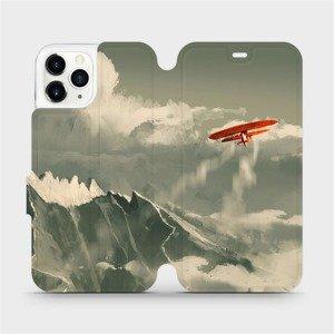 Flipové pouzdro Mobiwear na mobil Apple iPhone 11 Pro - MA03P Oranžové letadlo v horách