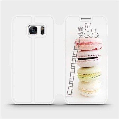 Flipové pouzdro Mobiwear na mobil Samsung Galaxy S7 Edge - M090P Makronky - have a nice day