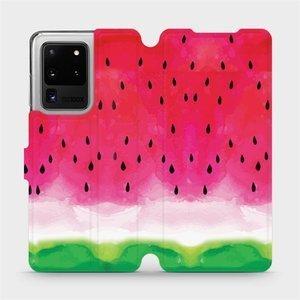 Flipové pouzdro Mobiwear na mobil Samsung Galaxy S20 Ultra - V086S Melounek