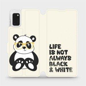 Flipové pouzdro Mobiwear na mobil Samsung Galaxy A41 - M041S Panda - life is not always black and white