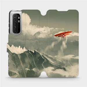 Flipové pouzdro Mobiwear na mobil Xiaomi Mi Note 10 Lite - MA03P Oranžové letadlo v horách