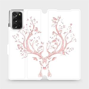 Flipové pouzdro Mobiwear na mobil Samsung Galaxy Note 20 - M007S Růžový jelínek