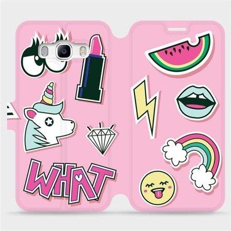 Flipové pouzdro Mobiwear na mobil Samsung Galaxy J5 2016 - M129S Růžové WHAT