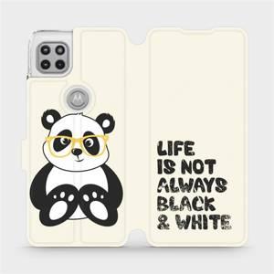 Flipové pouzdro Mobiwear na mobil Motorola Moto G 5G - M041S Panda - life is not always black and white