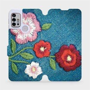 Flipové pouzdro Mobiwear na mobil Motorola Moto G10 - MD05P Džínové květy