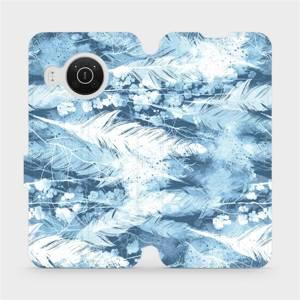 Flip pouzdro Mobiwear na mobil Nokia X20 - M058S Světle modrá horizontální pírka