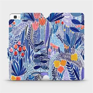 Flip pouzdro Mobiwear na mobil Huawei P8 Lite - MP03P Modrá květena