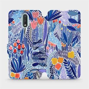 Flip pouzdro Mobiwear na mobil Nokia 2.3 - MP03P Modrá květena
