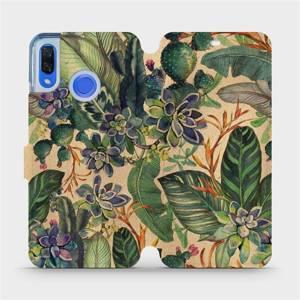 Flip pouzdro Mobiwear na mobil Huawei Nova 3 - VP05S Sukulenty