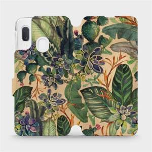 Flip pouzdro Mobiwear na mobil Samsung Galaxy A20e - VP05S Sukulenty