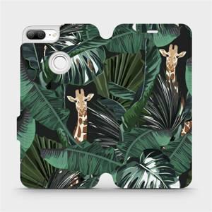 Flip pouzdro Mobiwear na mobil Honor 9 Lite - VP06P Žirafky
