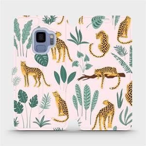 Flip pouzdro Mobiwear na mobil Samsung Galaxy S9 - MP07S Leopardi