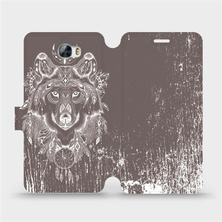 Flipové pouzdro Mobiwear na mobil Huawei Y5 II - V064P Vlk a lapač snů