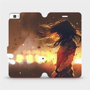 Flipové pouzdro Mobiwear na mobil Huawei P8 Lite - MA02S Tetovaná dívka