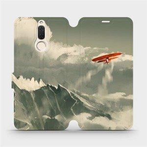 Flipové pouzdro Mobiwear na mobil Huawei Mate 10 Lite - MA03P Oranžové letadlo v horách
