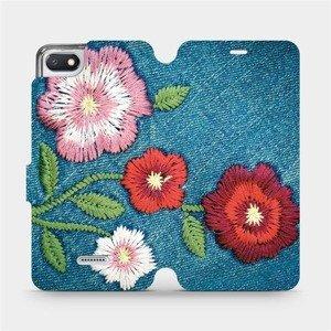 Flipové pouzdro Mobiwear na mobil Xiaomi Redmi 6A - MD05P Džínové květy