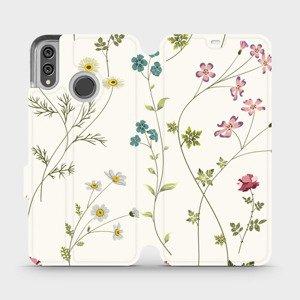 Flipové pouzdro Mobiwear na mobil Honor 8X - MD03S Tenké rostlinky s květy