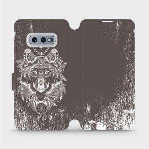 Flipové pouzdro Mobiwear na mobil Samsung Galaxy S10e - V064P Vlk a lapač snů