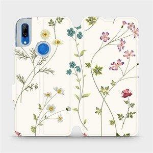 Flipové pouzdro Mobiwear na mobil Huawei P Smart Z - MD03S Tenké rostlinky s květy