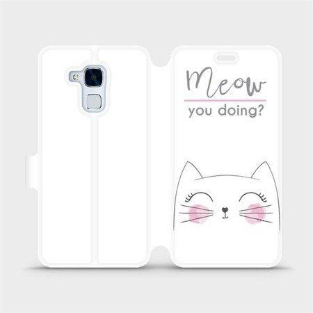 Flipové pouzdro Mobiwear na mobil Honor 7 Lite - M098P Meow you doing?