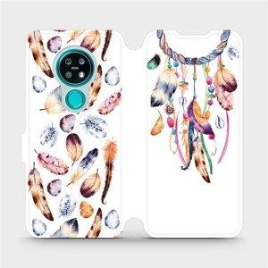 Flipové pouzdro Mobiwear na mobil Nokia 7.2 - M003S Lapač a barevná pírka