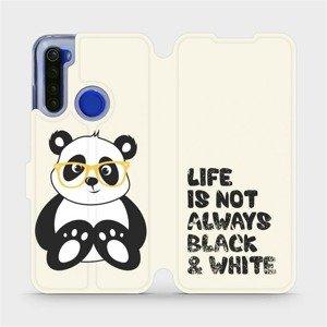 Flipové pouzdro Mobiwear na mobil Xiaomi Redmi Note 8T - M041S Panda - life is not always black and white