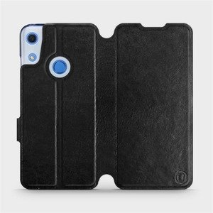 Flipové pouzdro Mobiwear na mobil Huawei Y6S v provedení C_BLS Black&Gray s šedým vnitřkem