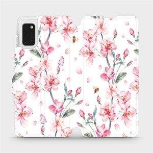 Flipové pouzdro Mobiwear na mobil Samsung Galaxy A41 - M124S Růžové květy