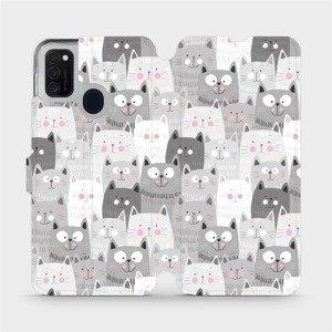 Flipové pouzdro Mobiwear na mobil Samsung Galaxy M21 - M099P Kočičky