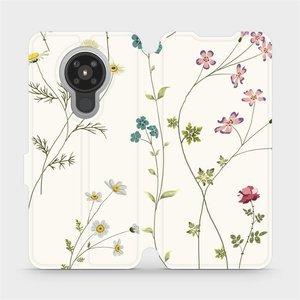 Flipové pouzdro Mobiwear na mobil Nokia 5.3 - MD03S Tenké rostlinky s květy