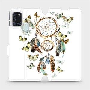 Flipové pouzdro Mobiwear na mobil Samsung Galaxy A21S - M001P Lapač a motýlci