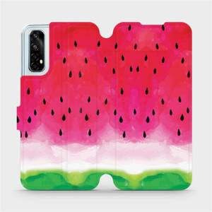 Flipové pouzdro Mobiwear na mobil Realme 7 - V086S Melounek