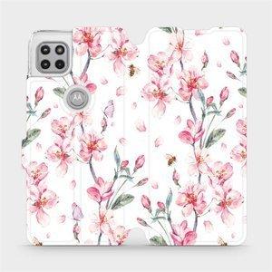 Flipové pouzdro Mobiwear na mobil Motorola Moto G 5G - M124S Růžové květy