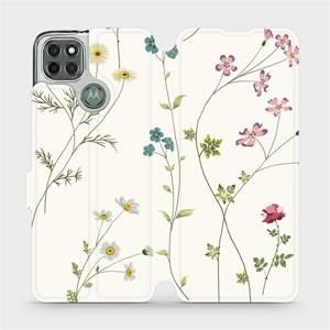 Flipové pouzdro Mobiwear na mobil Motorola Moto G9 Power - MD03S Tenké rostlinky s květy