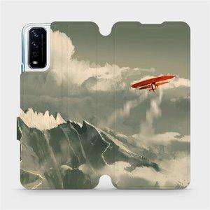 Flipové pouzdro Mobiwear na mobil Vivo Y11S - MA03P Oranžové letadlo v horách