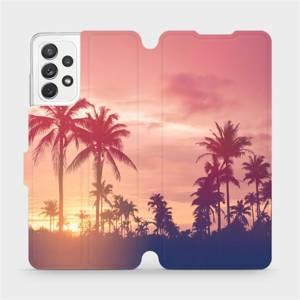 Flipové pouzdro Mobiwear na mobil Samsung Galaxy A72 - M134P Palmy a růžová obloha