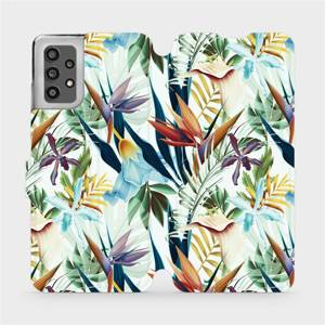 Flip pouzdro Mobiwear na mobil Samsung Galaxy A32 LTE - M071P Flóra
