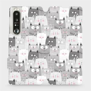 Flip pouzdro Mobiwear na mobil Sony Xperia 1 III - M099P Kočičky