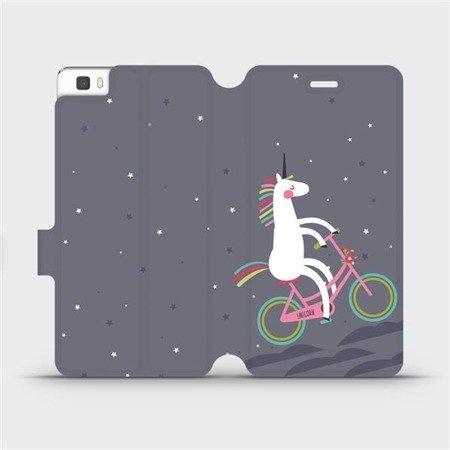 Flipové pouzdro Mobiwear na mobil Huawei P8 Lite - V024P Jednorožec na kole
