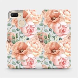 Flip pouzdro Mobiwear na mobil Xiaomi Redmi 6 - MP02S Pastelové květy