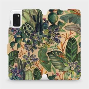 Flip pouzdro Mobiwear na mobil Samsung Galaxy A41 - VP05S Sukulenty