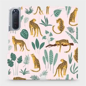 Flip pouzdro Mobiwear na mobil Sony Xperia 5 II - MP07S Leopardi