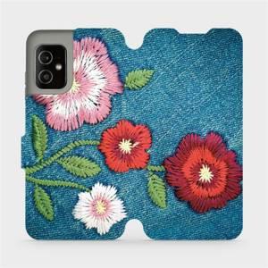 Flip pouzdro Mobiwear na mobil Asus Zenfone 8 - MD05P Džínové květy