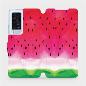 Flip pouzdro Mobiwear na mobil Vivo X60 Pro 5G - V086S Melounek