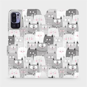 Flip pouzdro Mobiwear na mobil Xiaomi Redmi Note 10 5G - M099P Kočičky