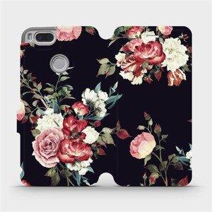 Flipové pouzdro Mobiwear na mobil Xiaomi Mi A1 - VD11P Růže na černé