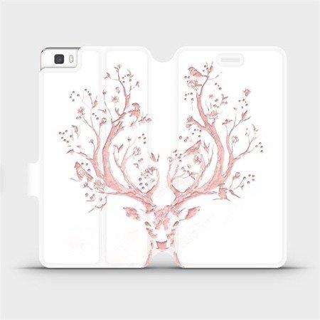 Flipové pouzdro Mobiwear na mobil Huawei P8 Lite - M007S Růžový jelínek